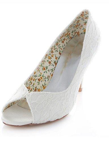 GGX boda 4in 3in ivory Vestido 3 3in 3 3 Punta Abierta Boda Zapatos 3 y Mujer Sandalias Marfil de ivory Noche Tacones 4in Fiesta qEUqrTw