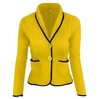 Dtuta Veste Courte à Manches Longues Costume Coupe-Vent Veste en Cuir Parka Blouson  Femme f08449a16d03