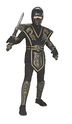 Gold Dragon Warrior Child's Ninja Costume, Medium