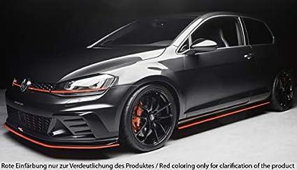 Rieger Frontal Alerón Espada Negro Mate para Volkswagen Golf 7 GTI Club Sport: 02.16 de: Amazon.es: Coche y moto