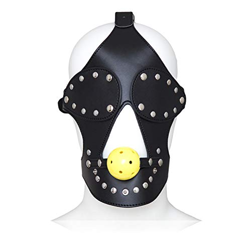 daogong Adjustable Detachable Leather Eye Patch Mouth Plug Stage Props Couple Toys by daogong