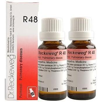 Dr Reckeweg Germany R48 Pulmonary Respiratory Diseases Pack Of 2