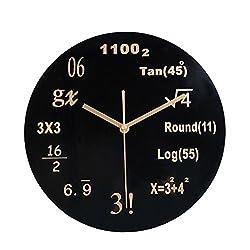 YJYDADA Clock, Silent Math Equations Polytechnic Digital Wall Clock (A)