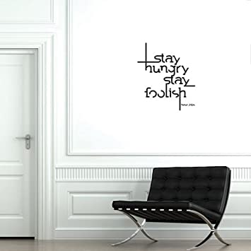 Amazoncom Wall Decal Quote Steve Jobs Wall Art 56cm x 48cm