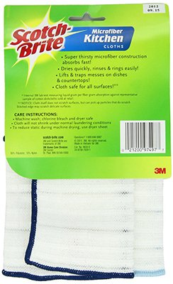 (Scotch-Brite Kitchen Cleaning Cloth, 2 Cloths/Pack)