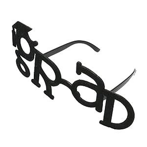 OULII Grad Glitter Glasses Funny Eyeglasses Frame Eyewear Props Costume Novelty Sunglasses for Graduation Party Suppliers (Black)