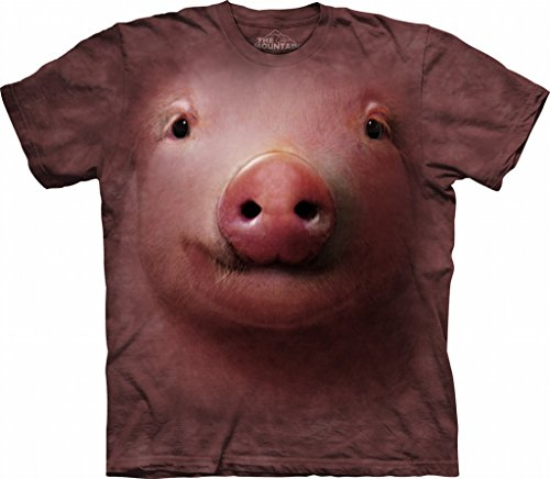 Pig Face The Mountain Tee Shirt Adult M-XXXL SIZE: X Large (Face Pig)