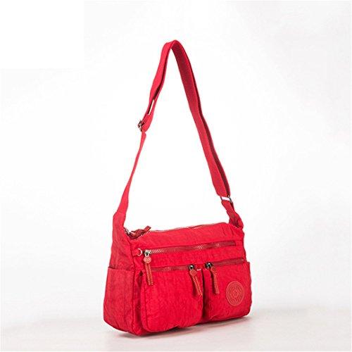 JOTHIN - Bolso al hombro de nailon para mujer 31x22x11cm(L*H*W) rojo