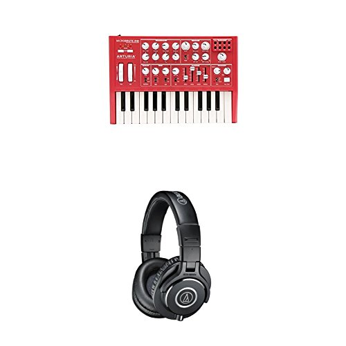 Arturia Microbrute Analog Synthesizer Bundle with Audio-Technica ATH-M40x Professional Monitor ()
