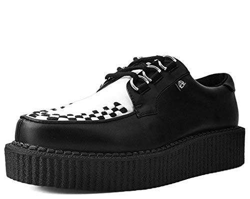 Anarchic T2274 Unisex-Adult Creepers, Black & White Anarchic Creeper - US: Men 10 / Women 12 / -
