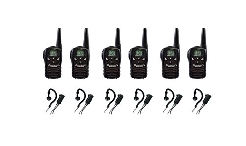 6-PACK Midland LXT118 FRS/GMRS 2 Way Radios with AVPH4 Wrap Around Ear Headsets, Brand New Sealed