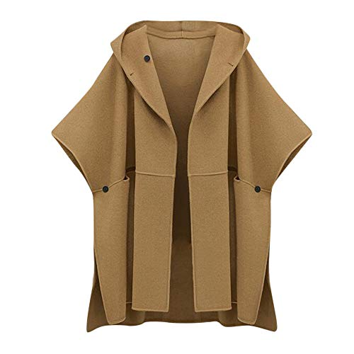 Pandaie Womens ... Jacket Coat,Outwear Women Loose Batwing Wool Poncho Winter Warm Coat Jacket Cloak Cape Parka Outwear