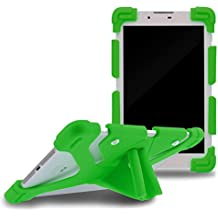 "Sinbadteck Universal 8.9-12"" Shockproof Silicone Cover Case Stand for iPad Air,iPad Mini,Kindle,Q8,Samsung Galaxy Tab,Verizon Asus RCA Google Dragon Touch &Other 8.9-12inch Tablets(8.9-12"", Green)"
