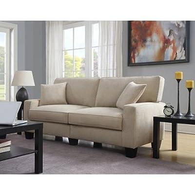 """Serta RTA Martinique Collection Sofa, Navarre Beige Fabric, 78"""", CR44630B"""