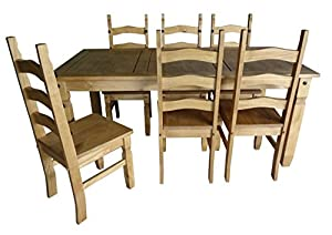 mercers furniture corona 6 ft dining table and 6 chairs