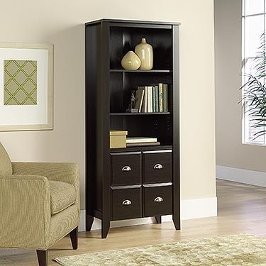 jamocha wood bookcase - 6