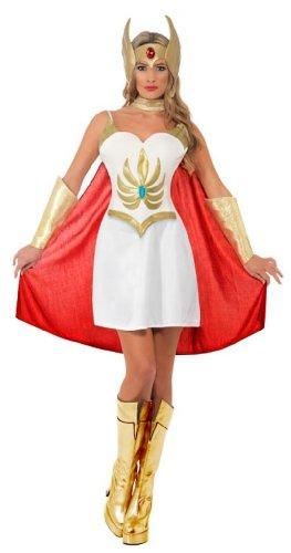 Smiffy's Women's Deluxe She-Ra Costume White/Gold Medium ()