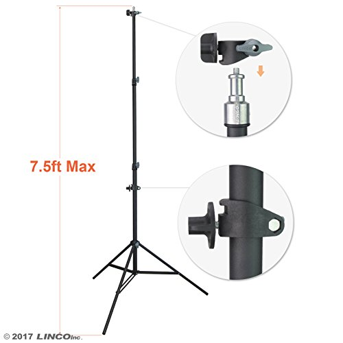 "LINCO Lincostore 90"" / 7.5ft Studio Photography Photo Light Stand / Reflector Panel Stand With Reflector Holder by Linco"