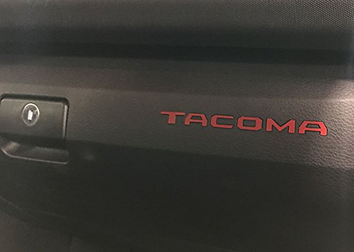 galleon toyota tacoma 2016 2017 red glove box letters. Black Bedroom Furniture Sets. Home Design Ideas