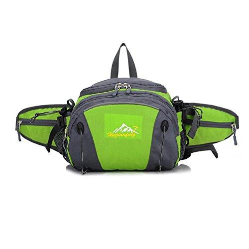 Wmshpeds Piscina multi-bolsillos funcionales del hombre cremallera doble escalada bolso impermeable mochila equitación deportes de mujeres B