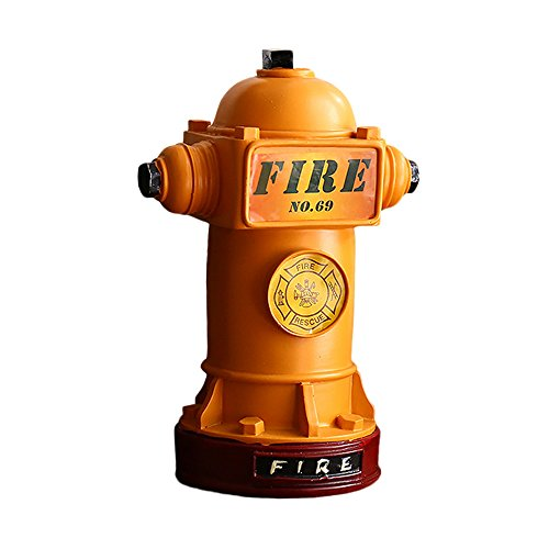 Baidercor Resin Fire Hydrant Coin Piggy Bank Yellow Money - Bank Piggy Fire Hydrant