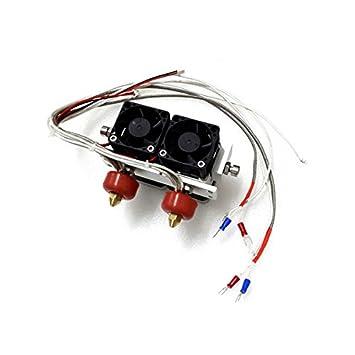 Calli Impresora 3d termopar extrusora cabezal de impresión doble ...
