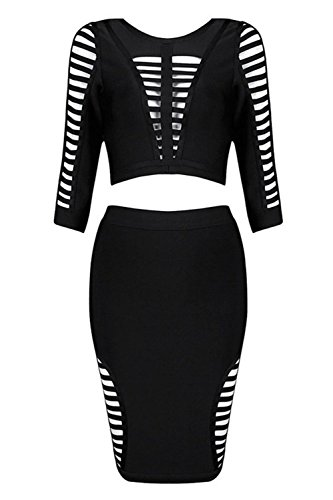 Pinkyee - Vestido - para mujer negro