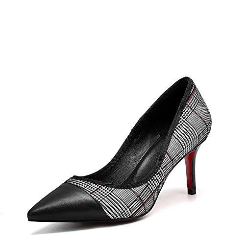 Correspondance Hauts Chaussures Talons Mode Cuir DKFJKI white Simples Shallow Véritable Sexy 8qF6wT5wZ
