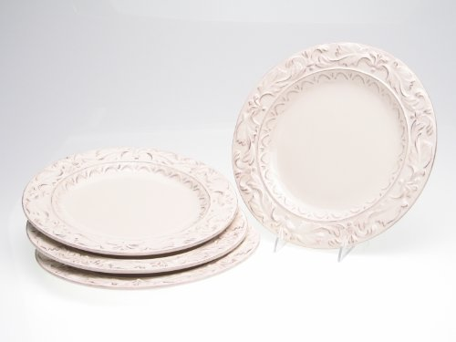 Certified International Firenze Ivory 11-1/2-Inch Dinner Plate, Set of 4