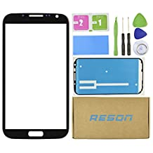 Note 2 Screen Replacement,Reson® Black Replacement Screen Glass Lens for SamSung Galaxy Note 2 II N7100 i317 L900 i605 T889+Tools Kit+dry/wet/dust Cleaning Paper+adhesive Sticker Tape