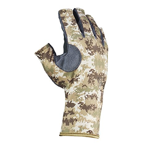 [Buff Pro Series Angler 3 Gloves Pixels Desert M/L] (Pixel Gloves)