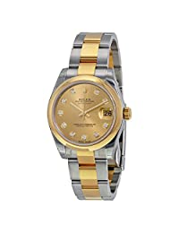 Rolex Datejust Lady 31 Stainless Steel and 18K Gold Rolex Oyster Watch 178243CDO