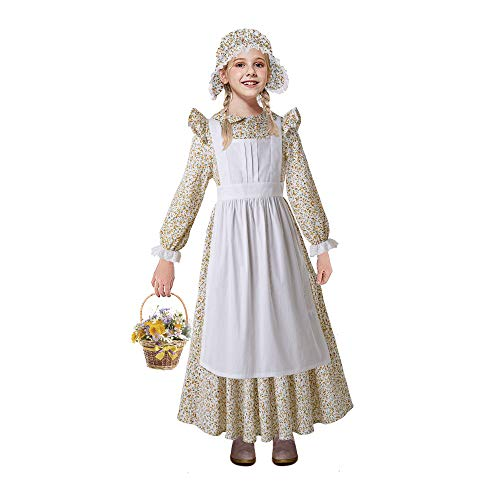 Colonial Costumes For Girls Kids - Pettigirl Girls Ruffle Pioneer Child Costume