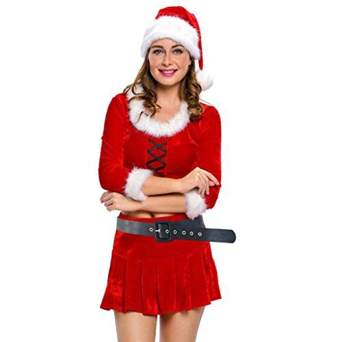 [Blugibedramsh Womens Christmas Costume Mrs Santa Outfit Theatrical Dancing Uniform ( M )] (Dance Costumes Uniform)