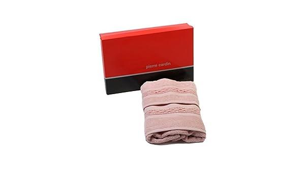 Pierre Cardin Juego Toallas Rizo baño Braid Viso + Invitados Rosa: Amazon.es: Hogar