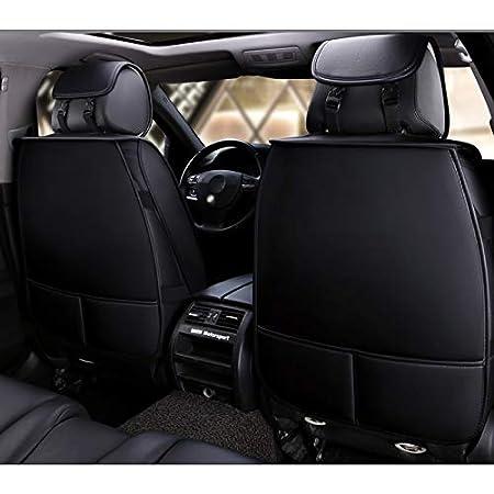 Vorne und Hinten 5-sitziges Set Universal Leder Seasons Protectors Pad Kompatibler Airbag mit Kissen. Farbe : Schwarz Fly Hong Autositzbezug