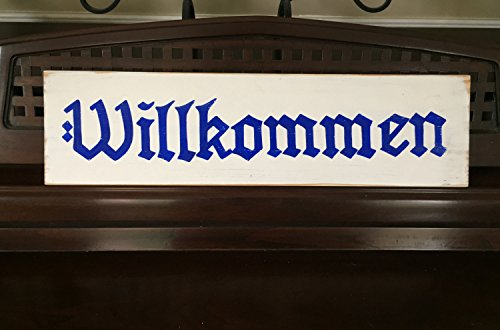 Zora Camp WILLKOMMEN Welcome Sign Plaque Wooden German Old World Style Bavarian Octoberfest Ocktoberfest Beer Garden Deutschland
