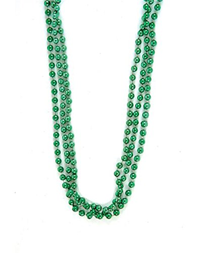Metallic Green Beads : package of 12