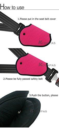 car child safety cover pink color harness repositions strap adjuster mash pad kids seat belt. Black Bedroom Furniture Sets. Home Design Ideas