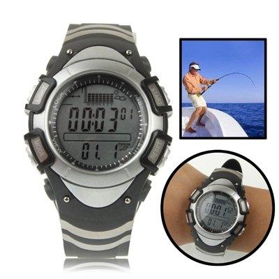 Fishing Digital Fishing Barometer Watch with Thermometer/Altimeter/Endure Forecast/Pressure Trend Chart Display / 30m Raincoat/Storm Alarm Fishing Outdoor
