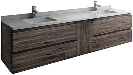 Fresca Formosa 82 Wall Hung Double Sink Size Modern Bathroom Cabinet
