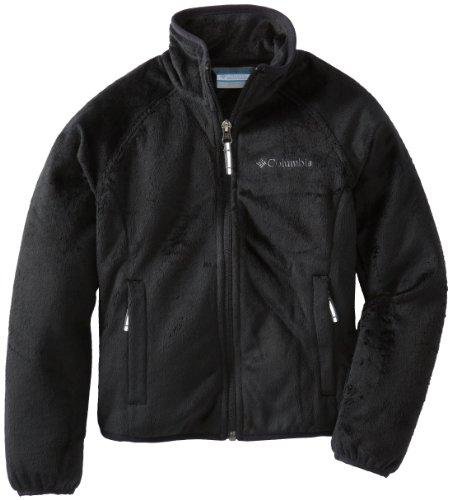 2 X Full Coat (Columbia Little Girls'  Pearl Plush Full Zip Jacket, Black, XX-Small)