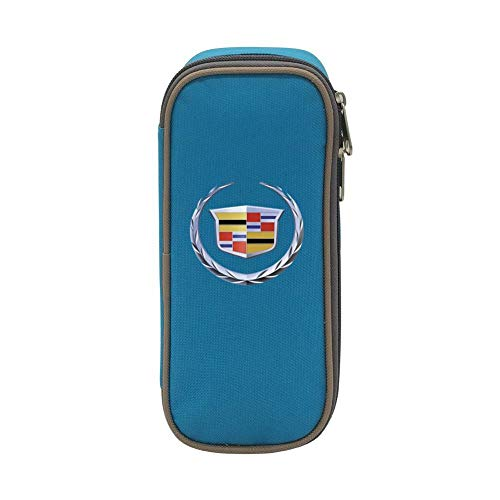 (Durable Stationery with Double Zipper Large Capacity for C-Adillac Logo Pen Case Pen Bag for Kids)