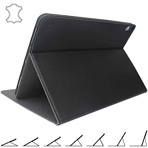 iPad Pro 12.9 Case 2018 Genuine Leather - Stands at Any Angle - with Pencil Holder - Best Cover for 3rd Gen 2018/2019 12.9 inch Apple - Pro Genuine Leather