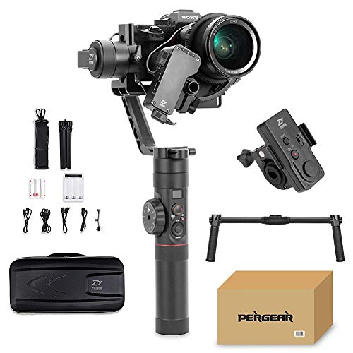 Zhiyun Crane 2 with Dual Handle Grip and Wireless Remote, Buy Crane-2 Get Free Servo Follow Focus, 7lb Payload OLED Display 18hrs Runtime 1Min Toolless Balance Adjustment