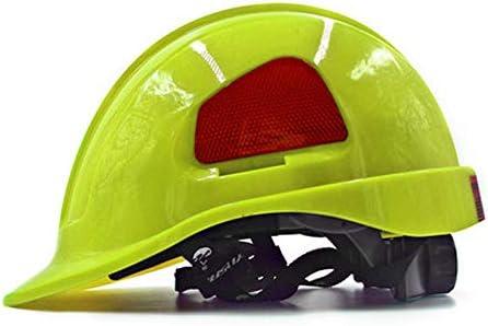 MEI XU エンジニアリング建設ヘルメット - ABS建設プロジェクト建設サイト軽衝突防止換気キャップリーダーシップ調査労働保険電気ヘルメット(多色選択) // (色 : Bright yellow)