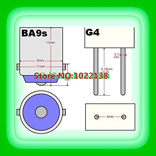 Halica 100pcs BA9s to G4 LED light bulb base Holders Lamp socket Converters BA9s to G4 Lamp Base Adapter
