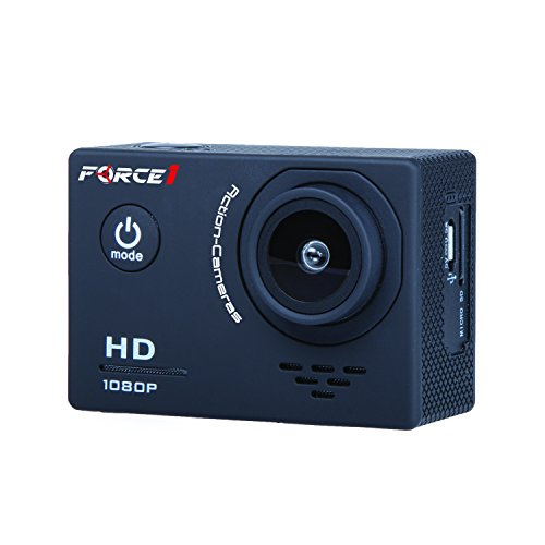 1080p HD Drone Camera - Force1 F100 Drone Live Video Camera with 4x Zoom 2 Inch Screen and Long Lasting Battery for GoPro Accessories or Your Quadcopter