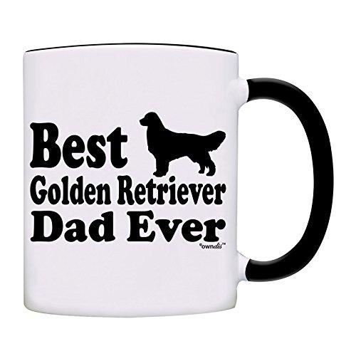 (Mug Best Golden Retriever Dad Ever Coffee Dad Mug-0054-Black)