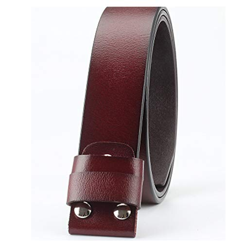 Belt Replace Mower (Diy Belt Genuine Leather Without Buckle Replace Belt Cowskin Leather Belt Body Smooth Buckle Cowhide Waistband)